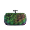 Luxury crystal evening bags Leather rhinestone party bags Women designable handbags EV2088