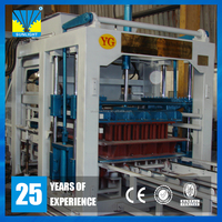QT10 High technical automatic high quality cement or concrete color paver block brick making machine