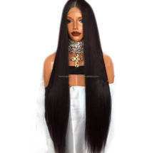 Silky straight virgin brazilian lace front 30inch extra long wholesale prices human hair wig