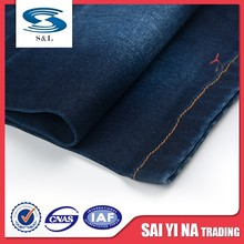 Wholesale 98% cotton 2% spandex denim fabric dyed used for clothing