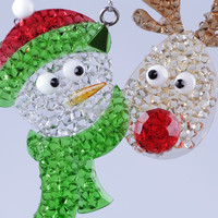 new style Snowman and Deer Christmas decoration xmas ornament