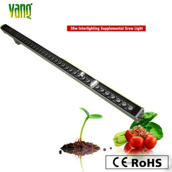 led grow light bar, aluminum housing led grow lights 36w with passive cooling
