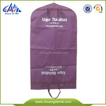 printed quilted purple mens pp non woven non-woven pvc cotton fabric custom made garment bag