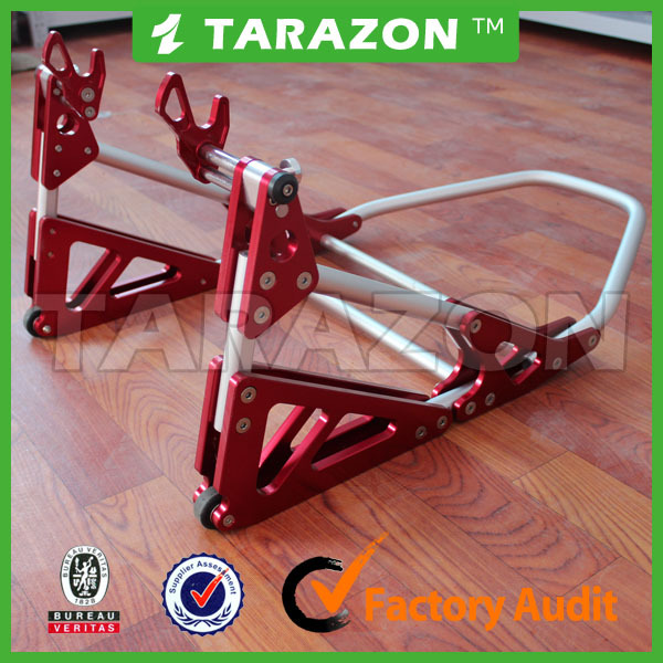 CNC Adjustable Wheel Paddock Moto Rear Stands