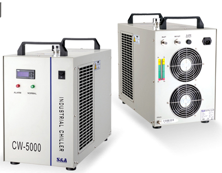 A&S CW5000 chiller for high power laser tube cooling
