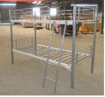 Steel bed frame bunk bed with silver powder coating