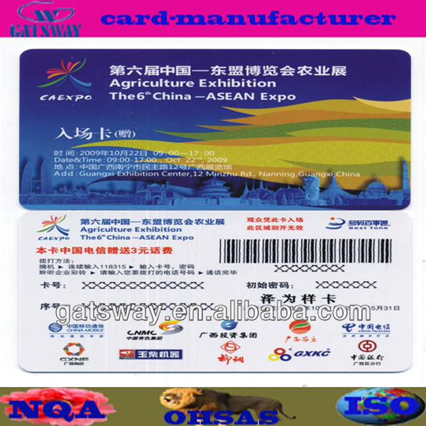 barcode scanner sim card with 4/4 printing
