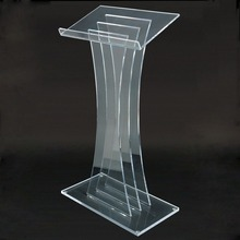 Modern Design Clear Acrylic Podium Pulpit Lectern