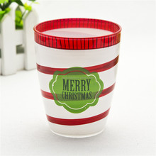 Glass christmas cup/other tumbler/chinese christmas ornament