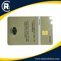 Contact plastic RFID card
