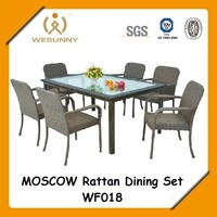 WF-018 Moscow Alum Rattan Dining Set/outdoor furniture