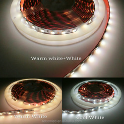 Alibaba Wholesale 2 In 1 Chip Dual Color Dimmable 12V 5050 CCT Adjustable LED Flexible Strip