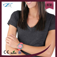 Western popular colorful silicone wristband geneva watch japan movt water resistant
