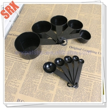 Customized Black Plastic Measuring Spoons making machine Measuring Tools For Baking Coffee salt measuring tool