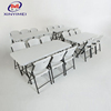 White outdoor wedding used PP plastic folding table and chair