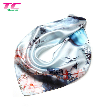 Exquisite Hot-Selling Square Scarf 53x53cm For Lady Multipurpose Chinese Printing Silk Scarves