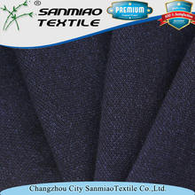 Yarn dyed indigo knit denim 100 cotton pique fabric for polo WHCP-2401