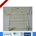 Blank design striped colorful man style yarn dye t-shirt free size china factory clothes