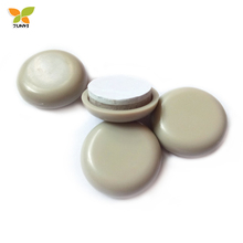 Self-Stick Furniture Easy Sliders for Sofa Furniture (4 Piece), 25mm Round, Beige