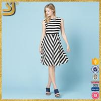 New Arrival new fashion women mini dress swan sleevelesssummer elegant party vest dress black
