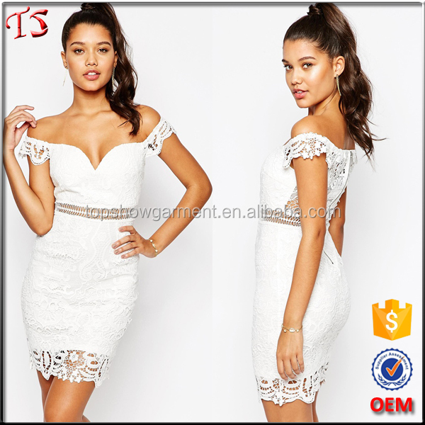 Wholesale alibaba OEM bardot lace sexy free prom dress made in china