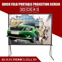 Wholesale 4k projector with 3d rear black white projection screen fabric