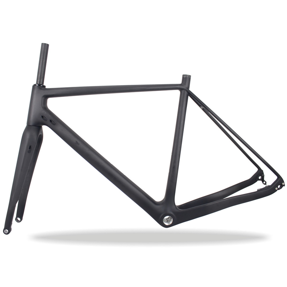 Super Stiffness Cyclocross Toray Carbon T700 Flat Mount Disc Brake Carbon Gravel Bike Frame