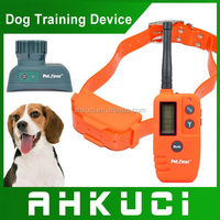 600m Big Small dog Waterproof Lcd Remote Control Dog Anti Bark Collar Rechargeable Dog Training Collar