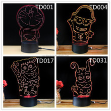 baby room decorative night light table lamp kid friendly gift 3D cartoon led light