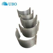 High Quality Factory delivery Stainless Steel Wedge Wire Wrapped Curve Sieve Bend Flat Screen for Fishpond