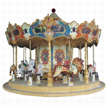 Electric amusement ride carousel rocking horse merry go round roundabout ride