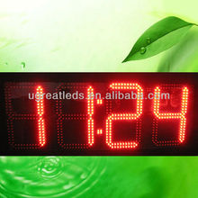 "New products IP65 outdoor 4 digits 10"" large led time temperature display"