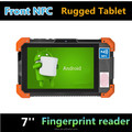 7 inch cheap rugged android tablet support qr barcode reader biometric fingerprint reader front NFC HF RFID rugged tablet pc