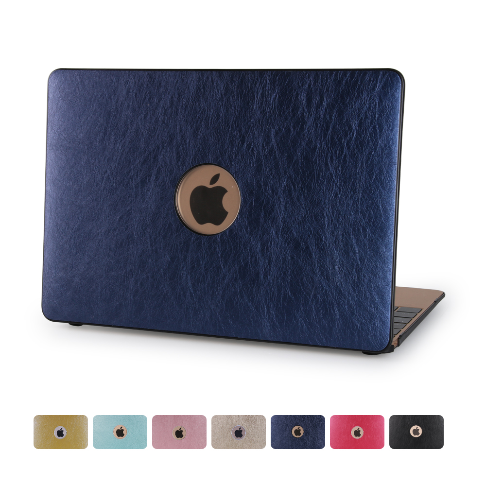 "High Quality PU Leather Cover Hard Shell Case for Macbook 11"" 12"" 13"" 15"""