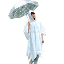 Cheap Full Length Printed PVC Hooded Rain Cape Poncho For Adults Fashion Long PVC Rain Poncho
