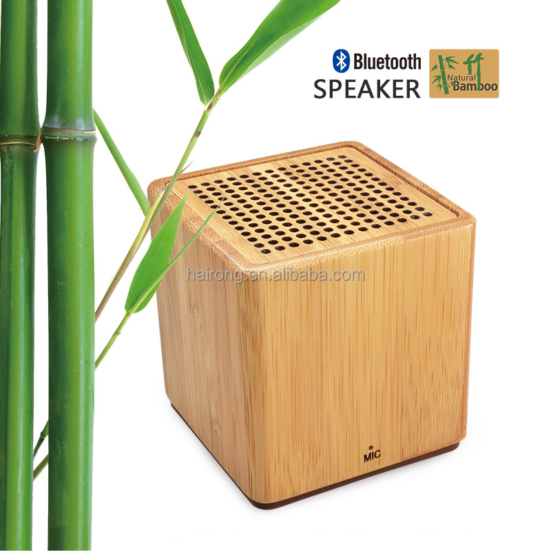 Hairong 2016 wooden bamboo wireless sound link mini bluetooth speaker, eco friendly OEM ODM sound link mini bluetooth speaker
