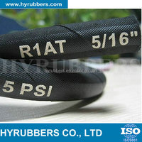 High pressure flexible rubber hydraulic hose with pipe fittings R1/1SN hose