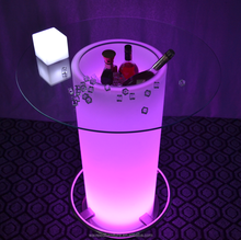 Led Outdoor Ice Cooler Table Bar Table with Ice Bucket Outdoor Ice Bucket Table
