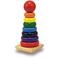 Kids Wooden Toy Ring Stacker with Friendly Material