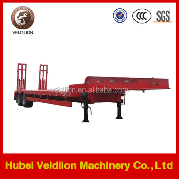 2 axles LOW BED SEMI TRAILER for vehicles transport
