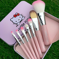 Hello kitty pink lovely makeup cosmetic brush set for women