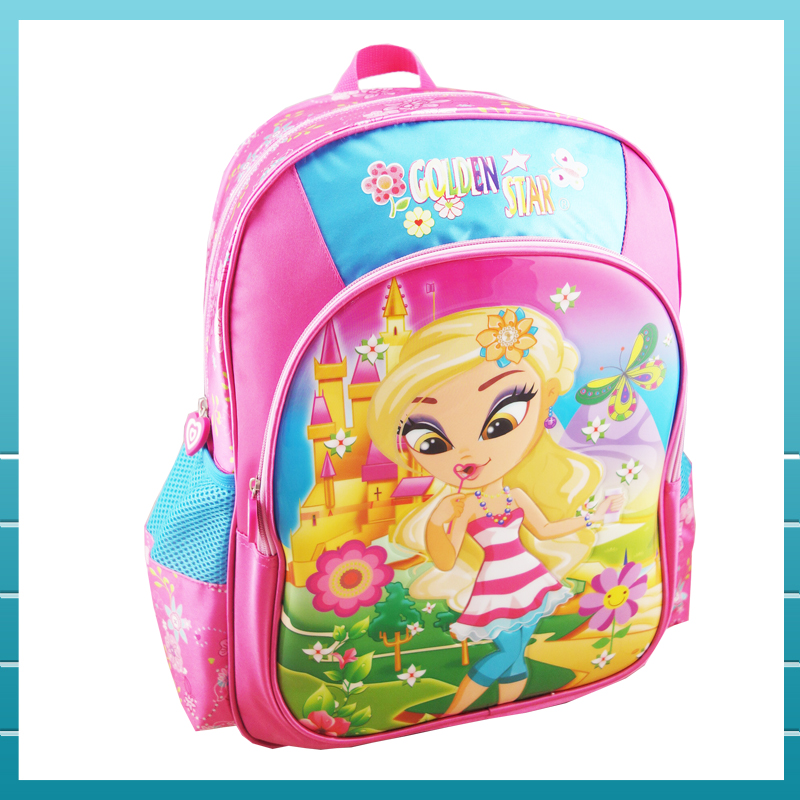 2017 cartoon pictures children school bag for girls