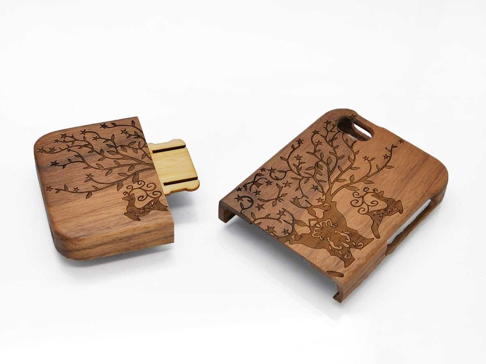 Real Bamboo Cherry Wood Phone Case OEM 2015 Custom For Iphone 6 Case Wood