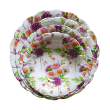 Hot sale flower home decoration hard plastic round tray