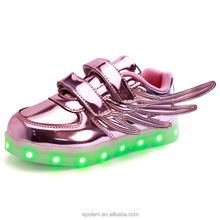 good quality girl shoes with led light high