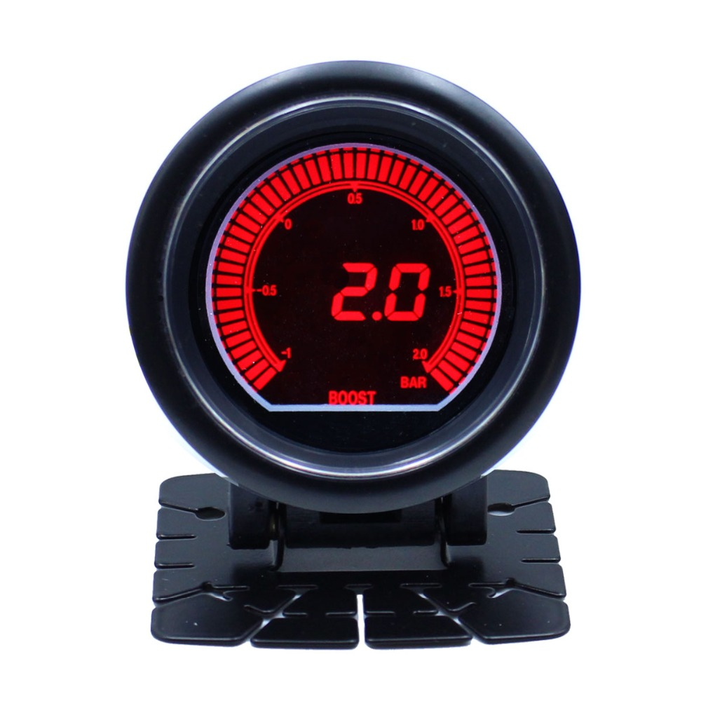2.5 inch LCD digital display Blue Red LED Light Tint Lens Turbo bar/psi Auto gauge meter car parts