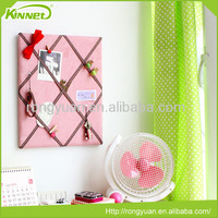 Convenient good quality hot sale fabric color pin board