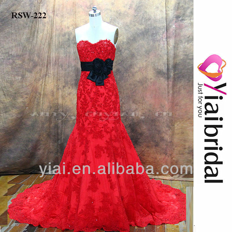 RSW222 Red And Black Wedding Dresses