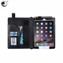 Guangzhou Manufacturer Cheap Wallet Flip Cover Bulk Shockproof Tablet Case With Strap For iPad Air 2