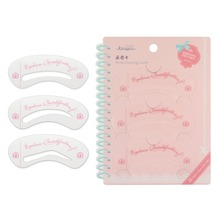 Kinepin 3 PCS Eyebrow Stencil Makeup Brow Drawing Guide Shaping Templates Kit